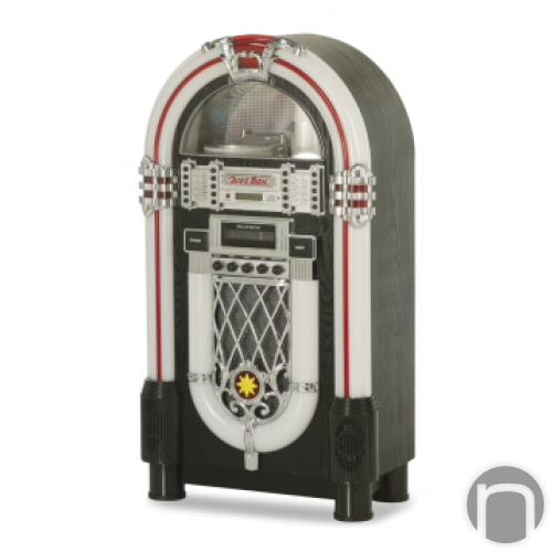 Ricatech RR1000 Full size Retro LED jukebox Blueto - en naumann